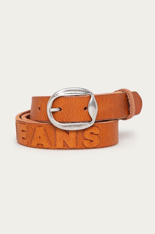 brązowy Pepe Jeans - Pasek skórzany Lisa Damski