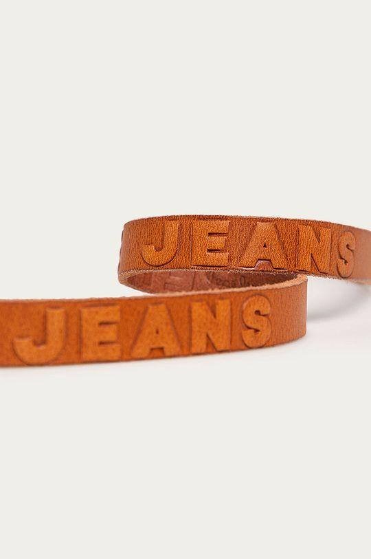 Pepe Jeans - Pasek skórzany Lisa brązowy