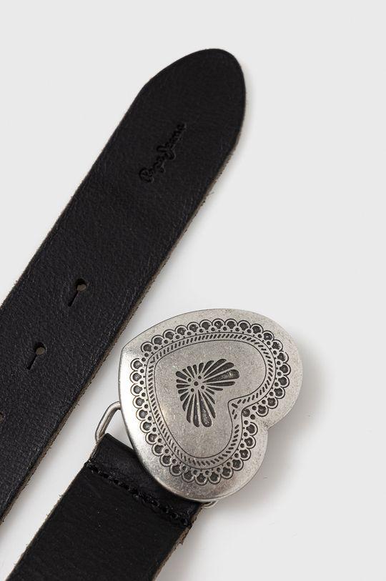 Pepe Jeans - Kožený opasok čierna