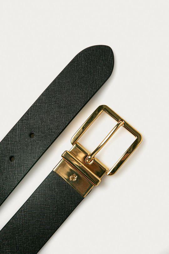 Lauren Ralph Lauren - Pasek skórzany dwustronny czarny