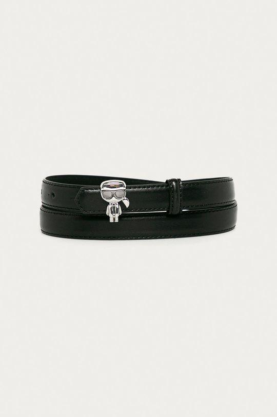 čierna Karl Lagerfeld - Kožený opasok Dámsky