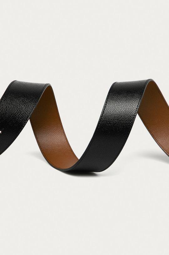 Furla - Obojstranný kožený opasok 1927 čierna