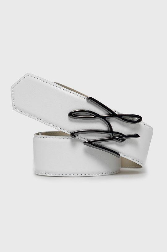 biały Karl Lagerfeld - Pasek skórzany Damski