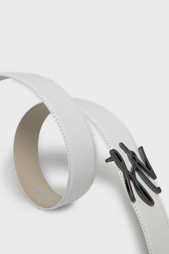 Karl Lagerfeld - Pasek skórzany biały