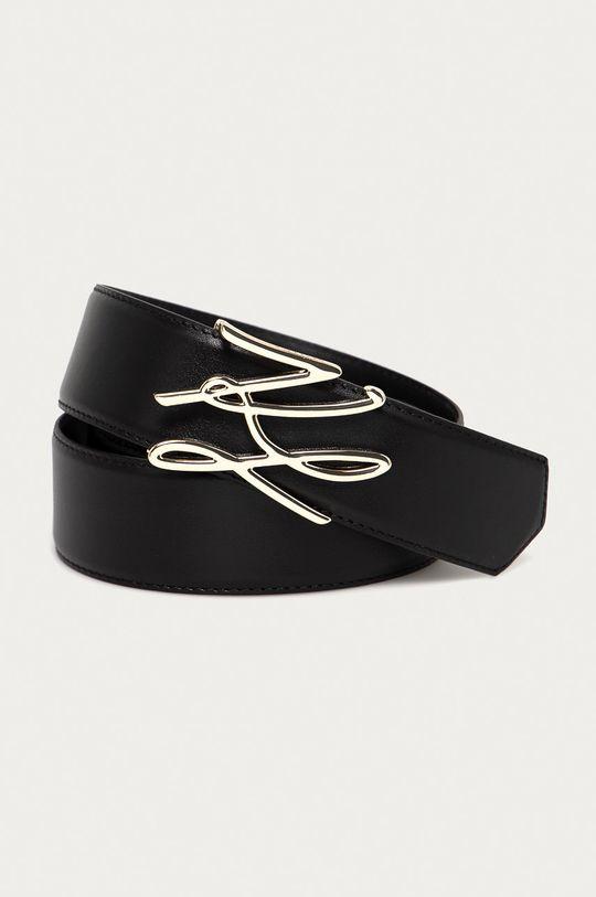 czarny Karl Lagerfeld - Pasek skórzany Damski