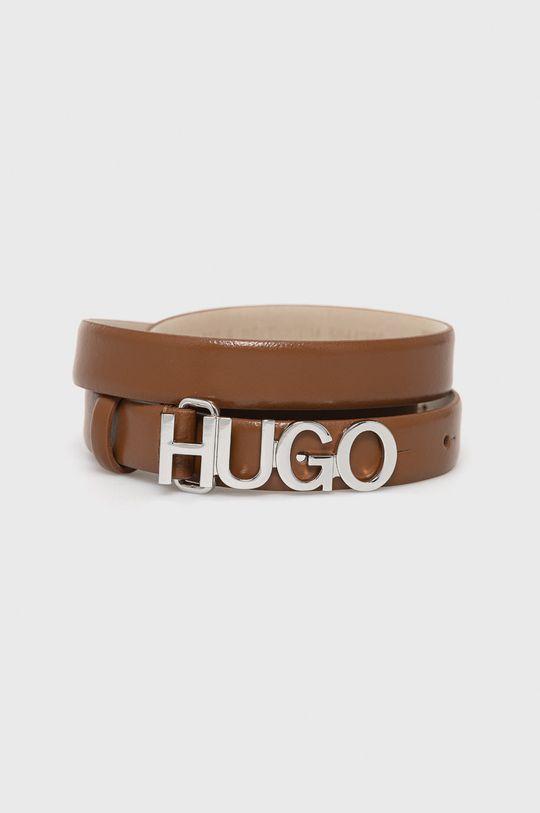 hnědá Hugo - Kožený pásek Dámský
