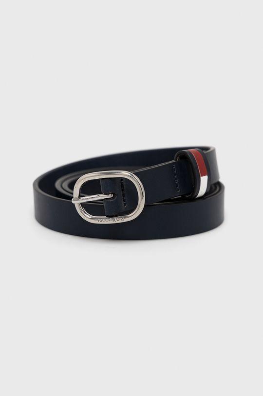 námořnická modř Tommy Jeans - Kožený pásek Dámský