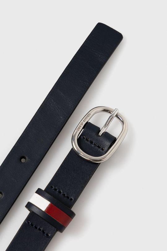 Tommy Jeans - Kožený pásek námořnická modř
