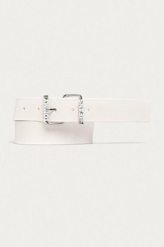 bílá Tommy Jeans - Kožený pásek Dámský