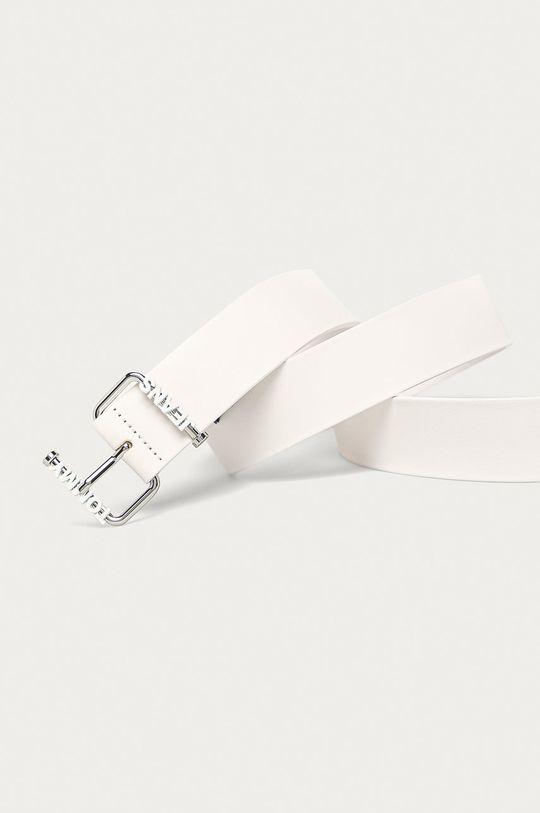 Tommy Jeans - Kožený pásek bílá