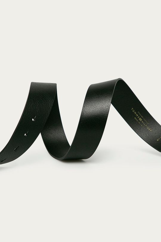Tommy Hilfiger - Pasek skórzany czarny