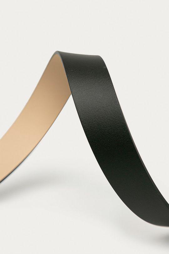 Tommy Hilfiger - Oboustranný kožený pásek černá