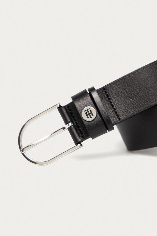 Tommy Hilfiger - Kožený pásek černá