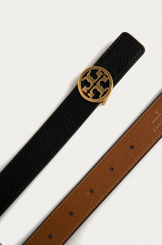 Tory Burch - Obojstranný kožený opasok čierna