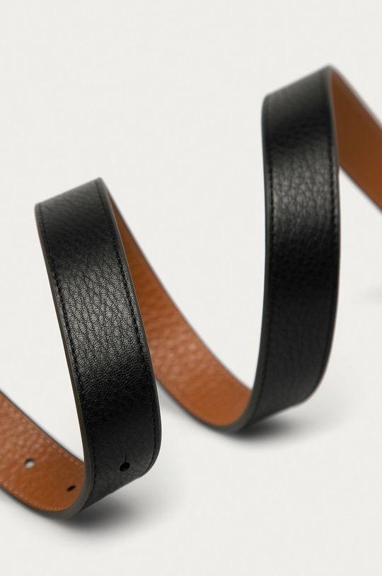Tory Burch - Oboustranný kožený pásek černá