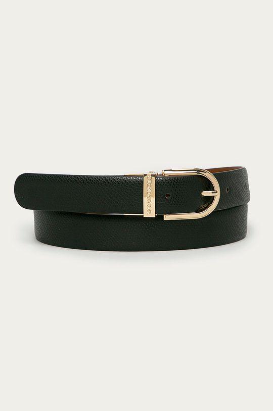 čierna Emporio Armani - Obojstranný kožený opasok Dámsky