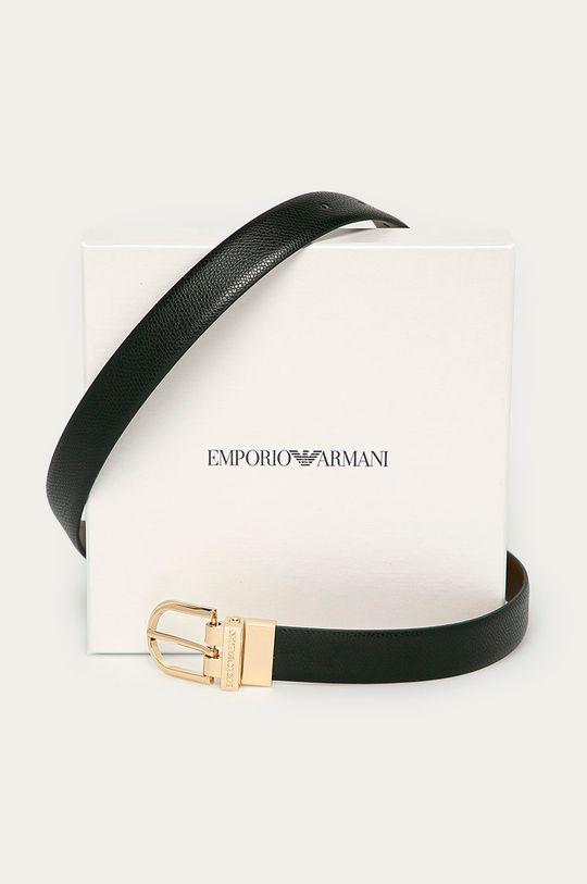 čierna Emporio Armani - Obojstranný kožený opasok