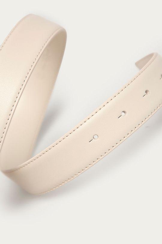 Pinko - Kožený pásek bílá