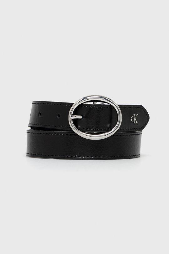 černá Calvin Klein Jeans - Kožený pásek Dámský