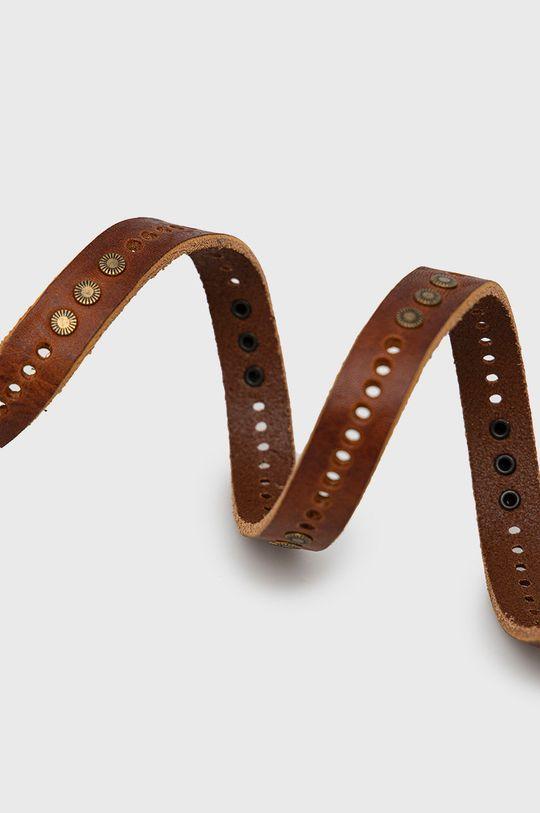 Sisley - Pasek skórzany brązowy