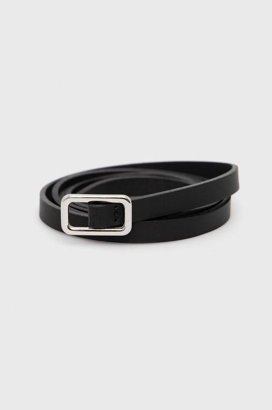 černá Sisley - Kožený pásek Dámský