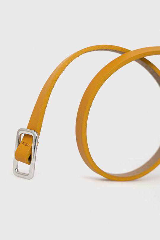 Sisley - Kožený opasok žltá