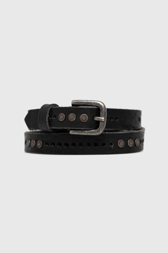 čierna Sisley - Kožený opasok Dámsky