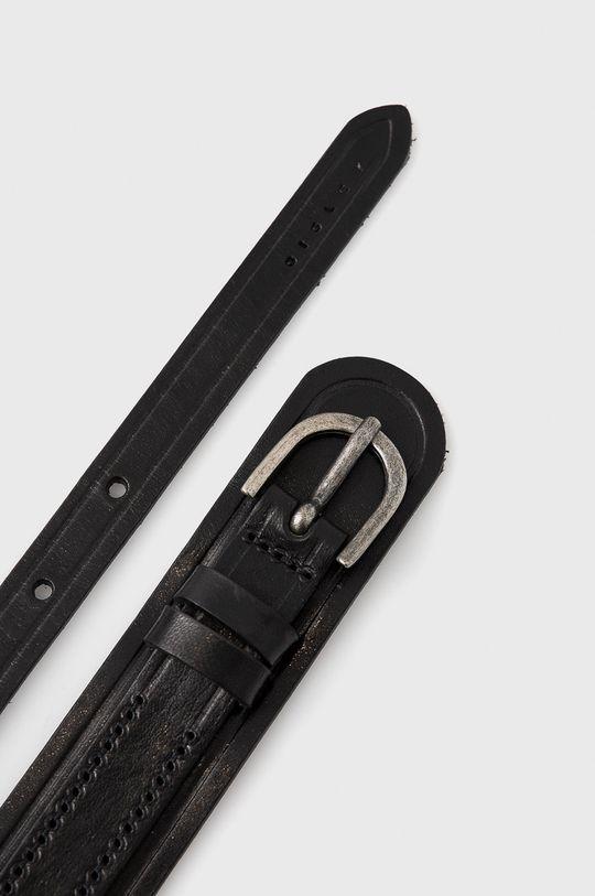 Sisley - Kožený opasok čierna