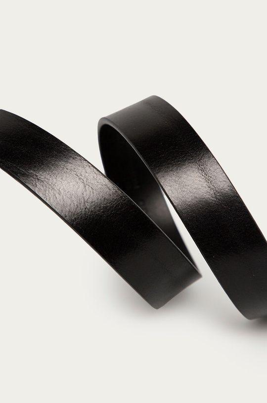 Guess - Pasek skórzany czarny