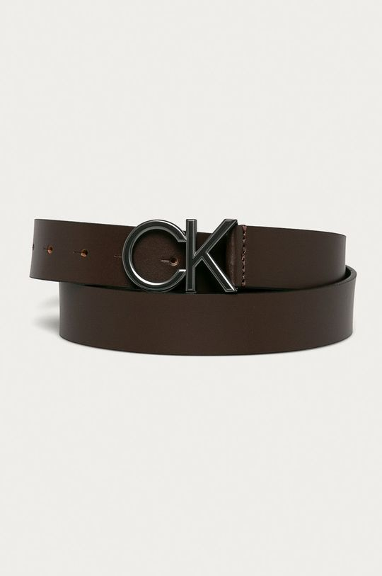 brązowy Calvin Klein - Pasek skórzany Męski