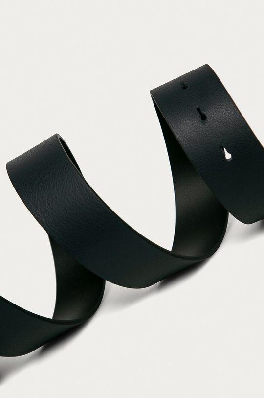 Calvin Klein Jeans - Kožený opasok tmavomodrá