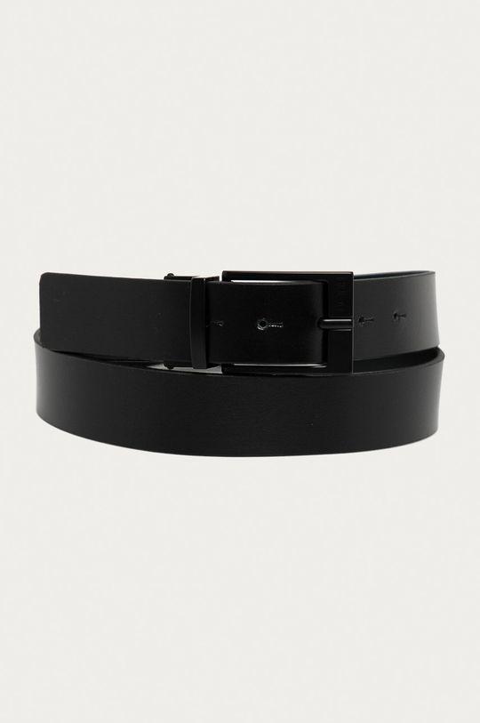 černá Hugo - Oboustranný kožený pásek Pánský