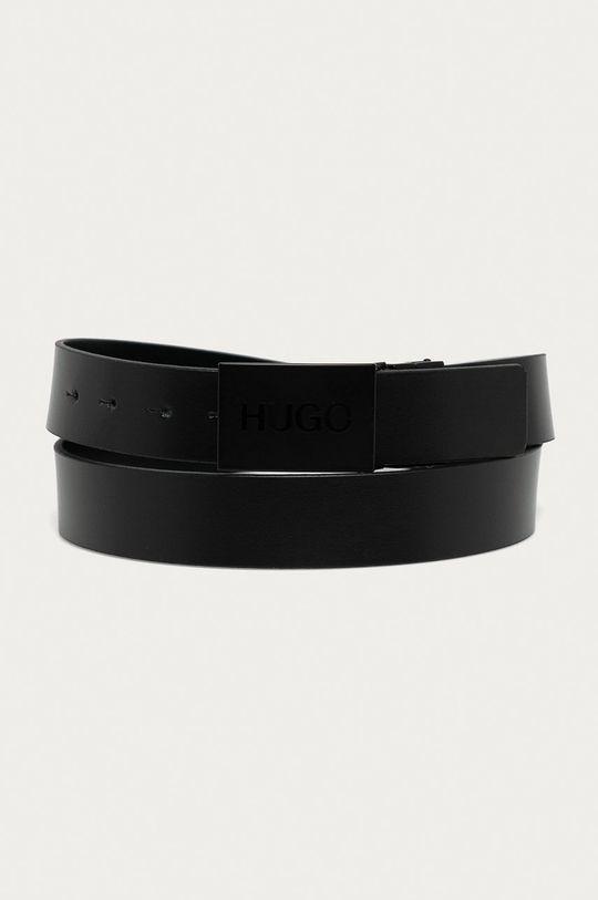 černá Hugo - Oboustranný kožený pásek
