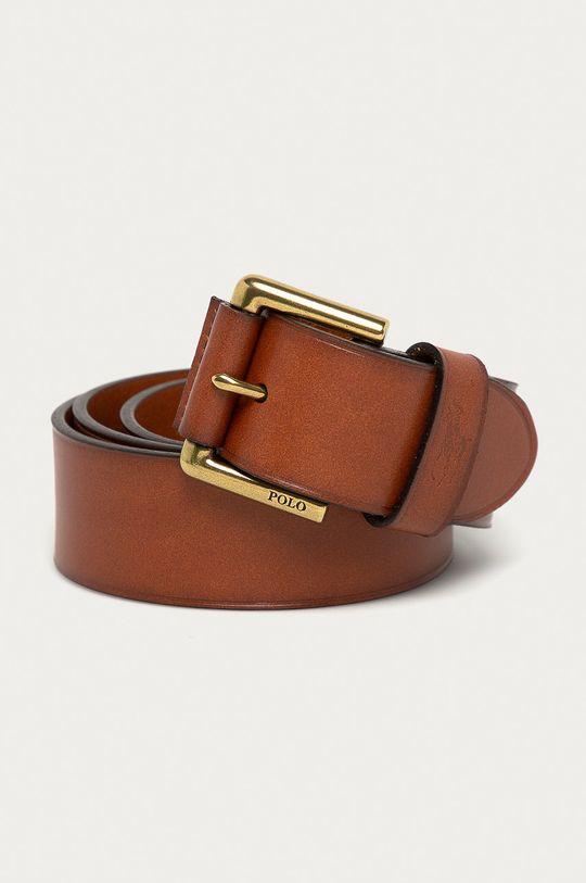 brązowy Polo Ralph Lauren - Pasek skórzany Męski