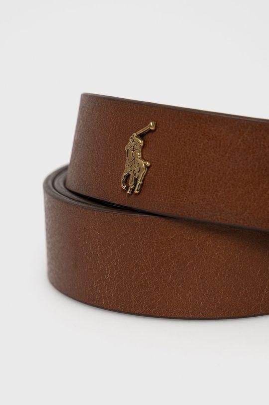 Polo Ralph Lauren - Pasek skórzany brązowy