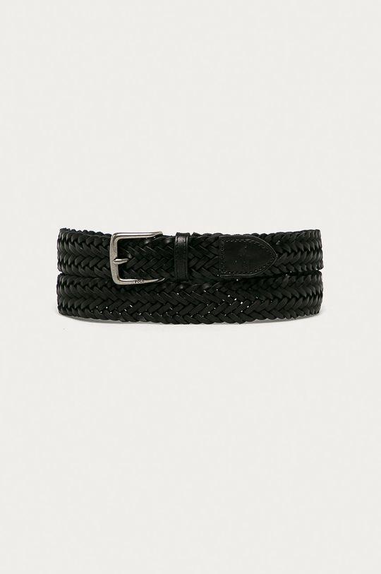 czarny Polo Ralph Lauren - Pasek Męski