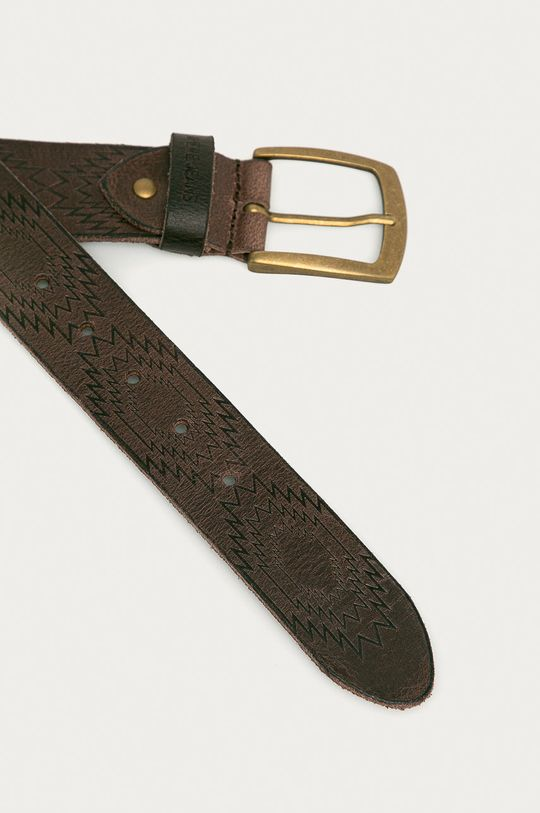 Pepe Jeans - Kožený pásek Maple hnědá