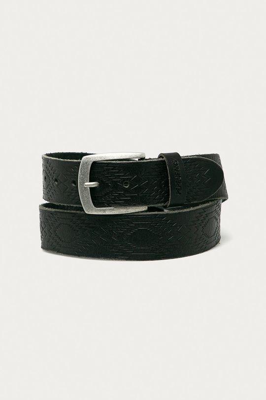 černá Pepe Jeans - Kožený pásek Maple Pánský
