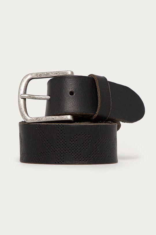 čierna Pepe Jeans - Kožený opasok Clover Pánsky