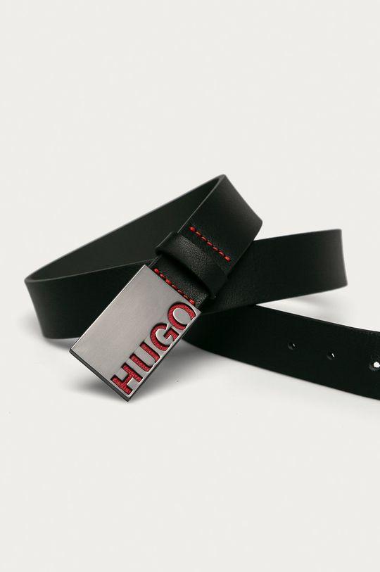 Hugo - Curea de piele negru