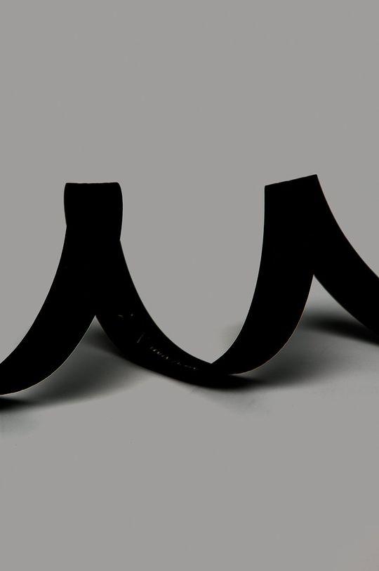 Armani Exchange - Kožený opasok čierna