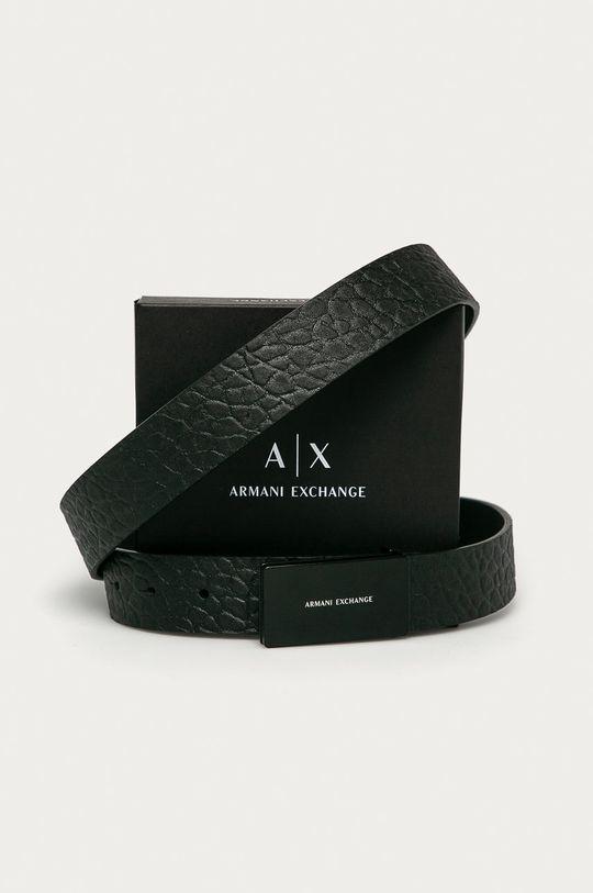 Armani Exchange - Kožený opasok  100% Prírodná koža
