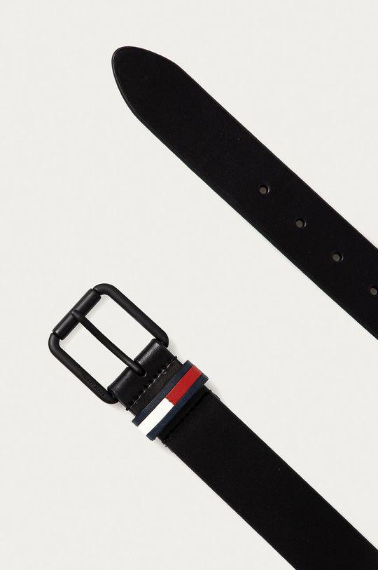 Tommy Jeans - Kožený opasok čierna