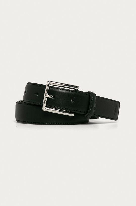 čierna Trussardi Jeans - Kožený opasok Pánsky
