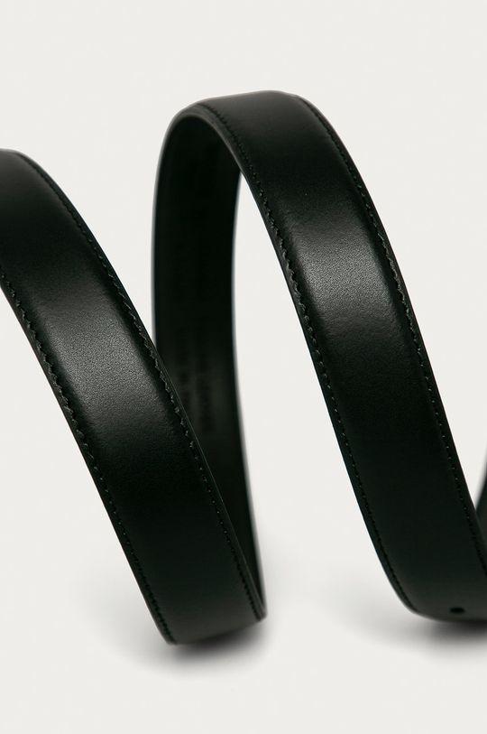 Trussardi Jeans - Kožený opasok čierna