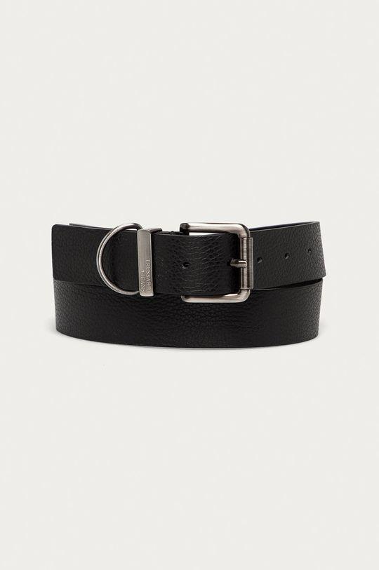 černá Trussardi Jeans - Kožený pásek Pánský