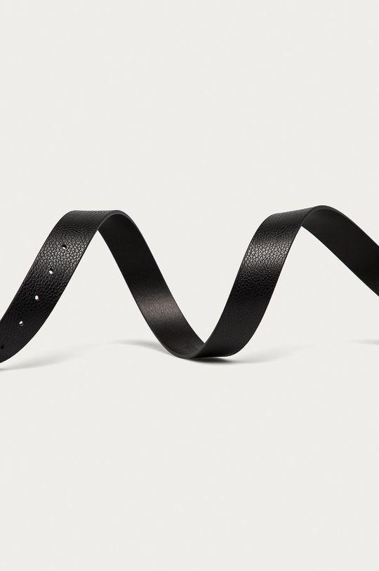Trussardi Jeans - Kožený pásek černá