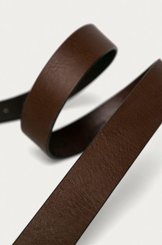 Trussardi Jeans - Kožený opasok tmavohnedá