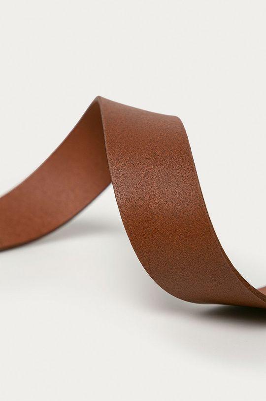 Wrangler - Pasek skórzany złoty brąz