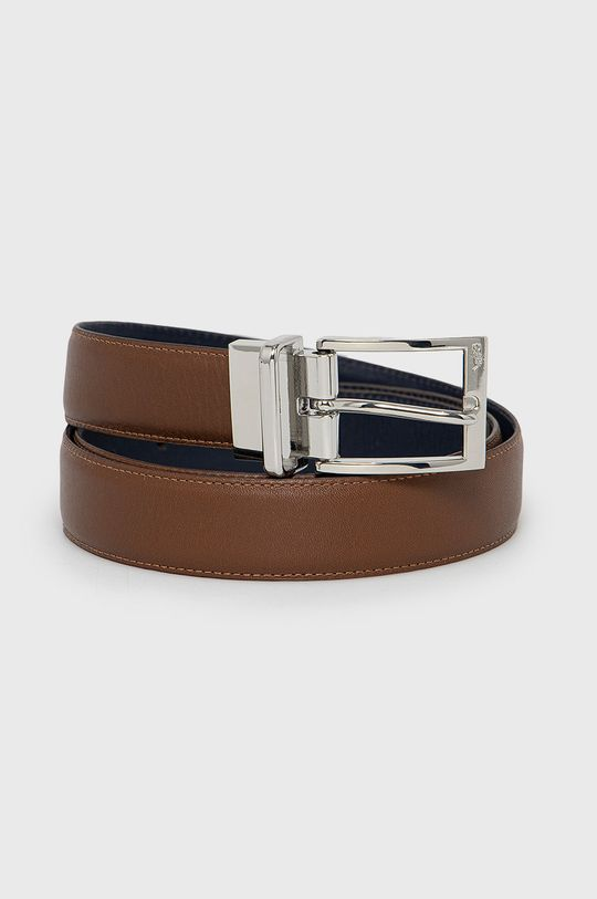 brązowy Polo Ralph Lauren - Pasek skórzany dwustronny Męski